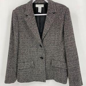 Sag Harbor Tweed Blazer Black/White Size: 14